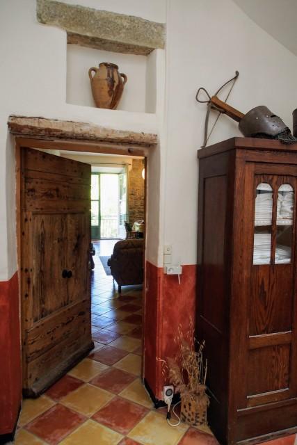 Front door open.