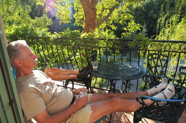 Don at gite balcony.