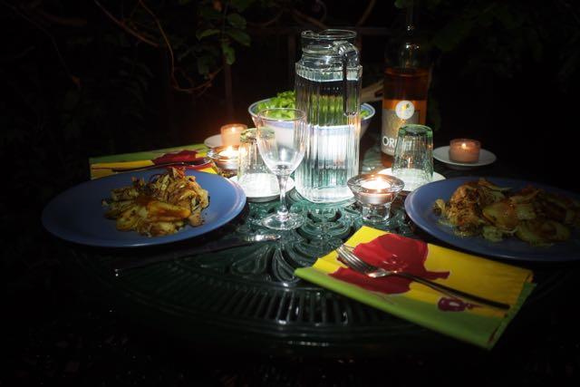Duck Dinner Lagrasse Balcony.