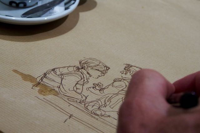 Chuck Starts Sketch.