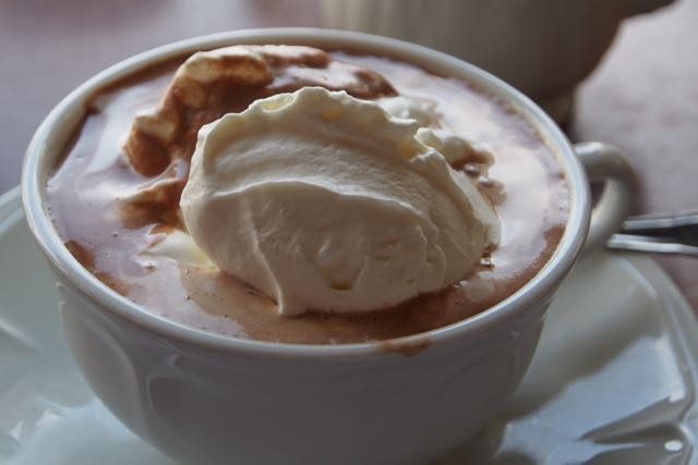 Cup of hot chocolate.