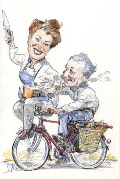 Cartoon of Kay & Don by the gifted and generous Chuck Pyle.