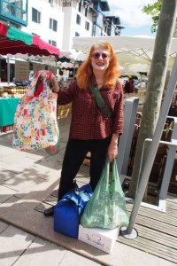 Kay at market.