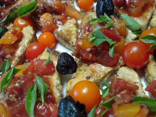 Tomato toasts.